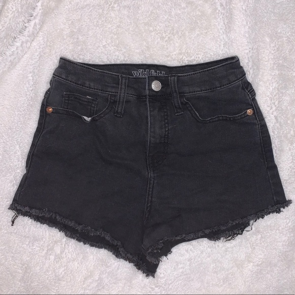 Black High Rise Jean Shorts (Wild Fable)